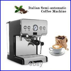 15 Bar Italian Semi-automatic Espresso Machine Coffee Maker Milk Steamer Home