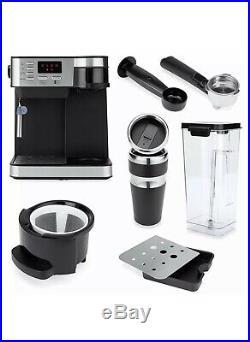 3-in-1 15-Bar Espresso, Drip Coffee, and Cappuccino Latte Maker Machine