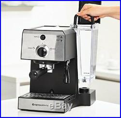 7 Pc All-In-One Espresso Machine & Cappuccino Maker Coffee Bean Grinder
