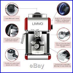 800W Espresso Coffee Machine Maker Latte Cappuccino Barista Dolce Gusto Electric