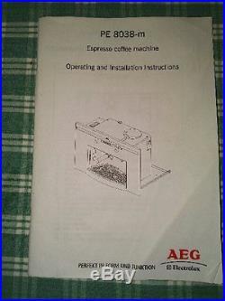 AEG Built-In (Bean to Cup) Espresso Coffee Machine