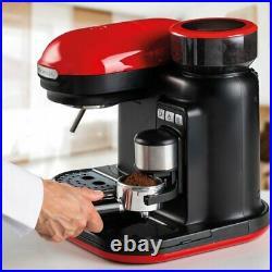 Ariete 1318R Moderna Espresso Machine, Barista Style Coffee Maker Red