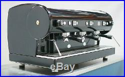 Astoria Lisa 3Grp Commercial Coffee Espresso Machine in Lustrous Jet Black