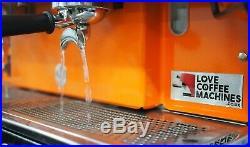 Astoria Lisa 3 Grp Commercial Coffee Espresso Machine in Bright Orange WOW