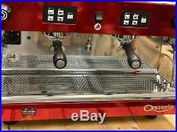 Astoria Tanya Sae 2 Group Red Chrome Espresso Coffee Machine Commercial Cafe