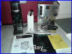 BOXED RANCILIO SILVIA & ROCKY GRINDER 8 Cups Espresso Cappuccino Coffee Machine