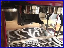 BREVILLE Barista Espresso Machine BES870CRXL Coffee Maker. Red. Great Condition