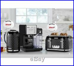 BREVILLE One-Touch VCF107 Coffee Machine Black & Chrome Currys