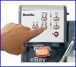 BREVILLE One-Touch VCF109 Coffee Machine Graphite Grey & Rose Gold Currys