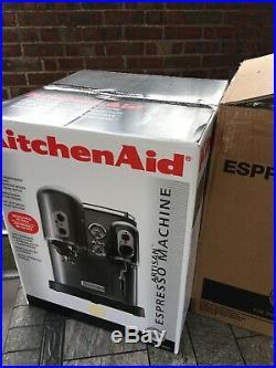 Brand-New! KitchenAid 5KES100EAC Artisan Espresso Coffee Machine -Almond Cream
