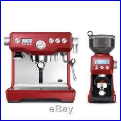 Breville BEP920CRN Espresso Coffee Machine Cranberry Red with Smart Grinder