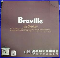 Breville BES980XL ORACLE Espresso Machine Coffee Maker Silver New Stainless
