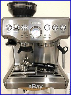 Breville Barista Espresso Machine Coffee Maker Stainless Steel Used