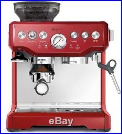 Breville Barista Express Cranberry Machine Red Espresso Coffee Automatic Maker