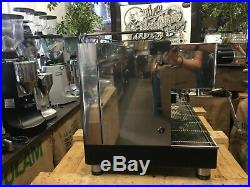 Brugnetti Delta 3 Group Black Stainless Steel Espresso Coffee Machine Commercial