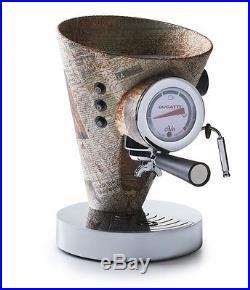 Bugatti Macchina Caffe Espresso Coffee Machine Newspaper Pelle Leather Expresso