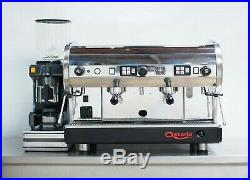 CMA Astoria 2 Group Coffee Silver Espresso Machine Package + Grinder & Filter