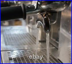 CMA Astoria 2 Group Gloria Coffee Espresso Machine Chrome and Metallic Black