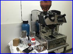 COMMERCIAL TRADITIONAL ESPRESSO COFFEE MACHINE WITH GRINDER AND ALL ACCESSORIES