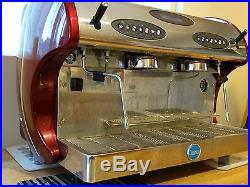 Carimali Kicco 2 Group Red Commercial Espresso Machine