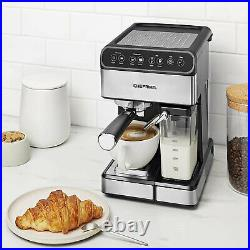Chefman 6 in 1 Espresso Maker Coffee Machine with Milk Frother and 15 Bar Pump