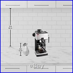 Coffee Cappuccino Espresso 4-Cup Steam Machine Maker New Fast Shipping