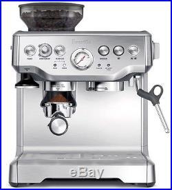 Coffee Machine Espresso Latte Steam Barista Cappuccino Kitchen Silver Drinks NEW