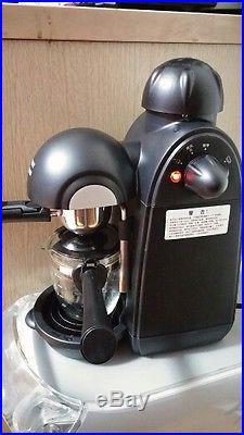 Coffee Machine Espresso Maker Italian Cappuccino Milk Foam Household 5bar Black