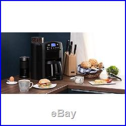 Coffee Machine Grinder Commercial Electric Espresso 10 Cups Timer Thermo Filter