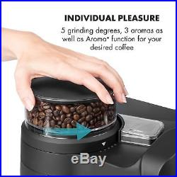 Coffee Machine Maker Beans Grinder Filter Espresso Office Home 10 cups Black