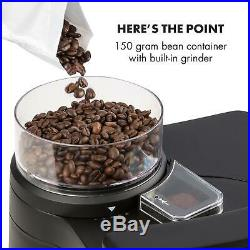 Coffee Machine Maker Grinder Bean to cups 10 Filter Timer LCD 1.25 l Silver