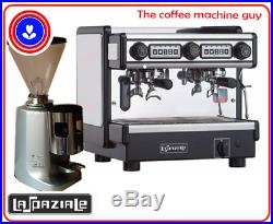 Commercial Coffee Espresso Machine 2 group La Spaziale Compact and Mazzer Jolly