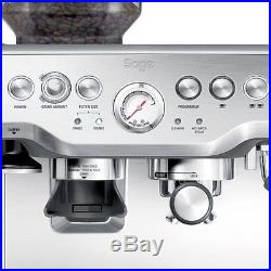 Commercial Coffee Machine Silver Grinder Espresso Bean Cup Warmer Professional