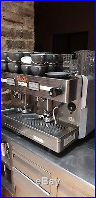 Commercial coffee machine 2 group espresso latte gigagia barista cafe catering