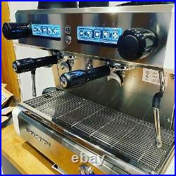 Conti Espresso Coffee Machine CC100 2 group compact Commercial Tall Cup White
