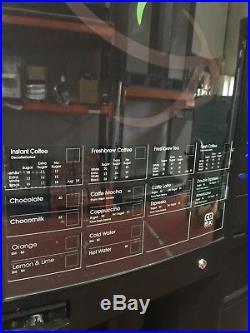 Crane Evolution Fresh Bean Espresso Coffee Hot Drinks Vending Machine