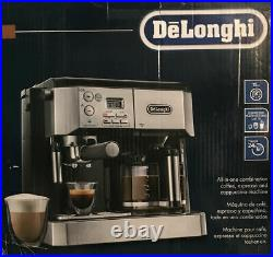 DeLonghi BCO432 Combo Espresso & 10-Cup Drip Coffee Machine with Frother REFURB