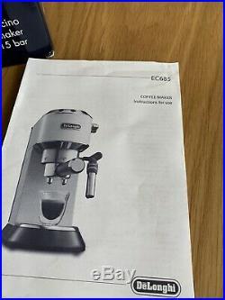 DeLonghi Dedica EC685M Coffee Machine Silver