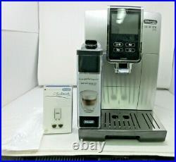 DeLonghi Dinamica Plus Bean to Cup Coffee Machine ECAM 370.85. SB, Silver-Black