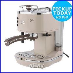 DeLonghi ECOV310BG Vintage 1.4L 15 Bar Espresso Coffee Machine Cream. Argos