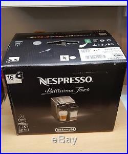 DeLonghi LATTISSIMA TOUCH EN550. S Espresso Machine Silver & Coffee Taster Pack