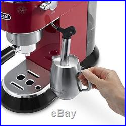 De'Longhi EC680. R Dedica Coffee Machine with 15 Bar Espresso Pump Red