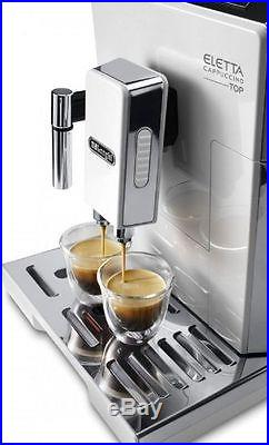De'Longhi ECAM45.760W Eletta Plus Bean To Cup Espresso Top Coffee Machine. New