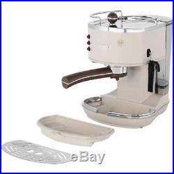 De'Longhi ECOV311. BG Icona Vintage Espresso Coffee Machine 15 bar Cream New