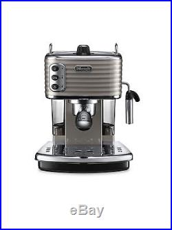 De'Longhi ECZ351. BG Scultura Espresso Coffee Cappuccino Machine1100 W, Champagne