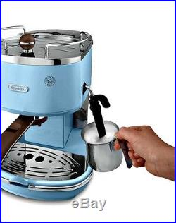 Delonghi Coffee Machine Blue Delonghi Icona Espresso and Cappuccino Maker New