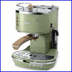 Delonghi Coffee Machine Green Delonghi Icona Espresso and Cappuccino Maker New