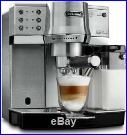 Delonghi EC860M Pump Espresso Manual Coffee Machine Silver EC 860. M