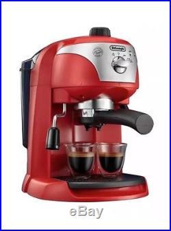 Delonghi ECC221. R Traditional Pump Espresso Coffee Machine Red