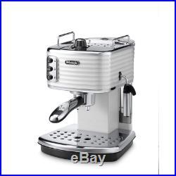 Delonghi ECZ351. W Scultura 1100W Pump Espresso Coffee Machine in White
